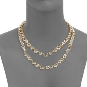 Kate Spade Crystal Double Layer Necklace